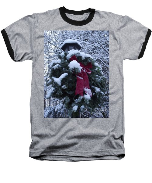 Winter Wreath Baseball T-Shirt