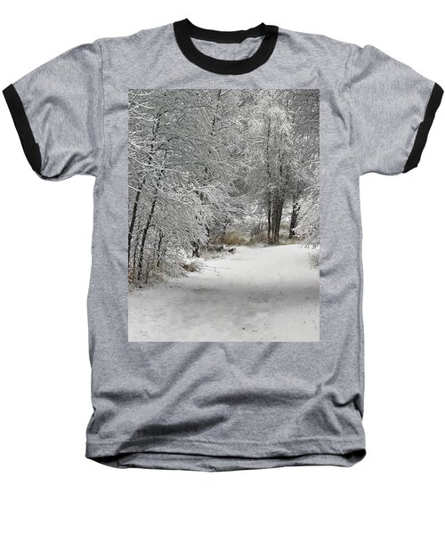 Baseball T-Shirt featuring the photograph Winter's Kiss by Don Schwartz