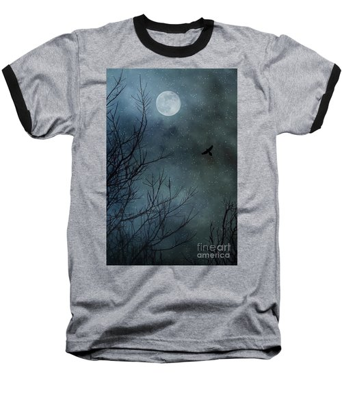 Winter's Silence Baseball T-Shirt by Trish Mistric