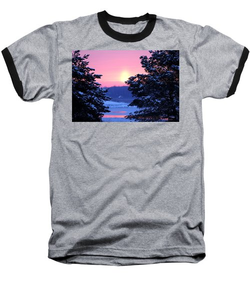 Baseball T-Shirt featuring the photograph Winter's Sunrise by Elizabeth Winter