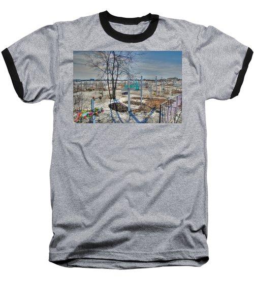 Wintery Grave Baseball T-Shirt