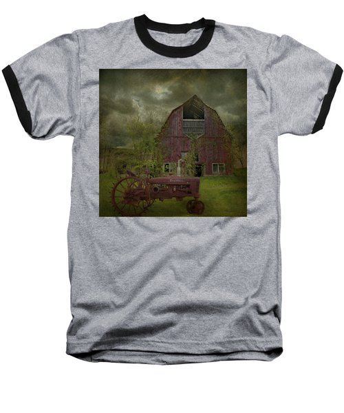 Wisconsin Barn 3 Baseball T-Shirt by Jeff Burgess