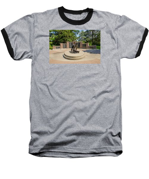 Baseball T-Shirt featuring the photograph Wisconsin State Firefighters Memorial 1 by Susan  McMenamin