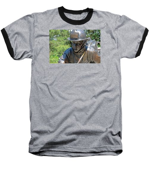 Baseball T-Shirt featuring the photograph Wisconsin State Firefighters Memorial 3  by Susan  McMenamin