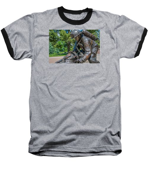 Baseball T-Shirt featuring the photograph Wisconsin State Firefighters Memorial 4 by Susan  McMenamin