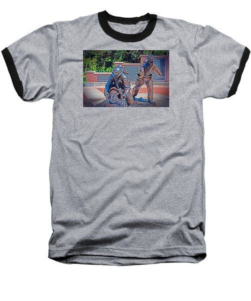 Baseball T-Shirt featuring the photograph Wisconsin State Firefighters Memorial Park 2 by Susan  McMenamin