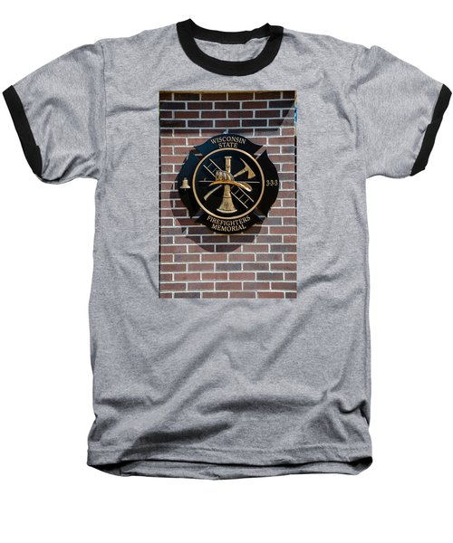 Baseball T-Shirt featuring the photograph Wisconsin State Firefighters Memorial Park 5 by Susan  McMenamin