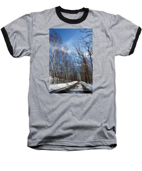 Wisconsin Winter Road Baseball T-Shirt