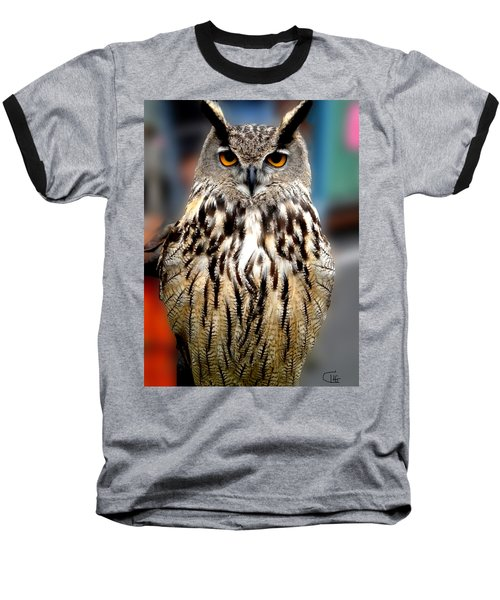 Wise Forest Mountain Owl Spain Baseball T-Shirt