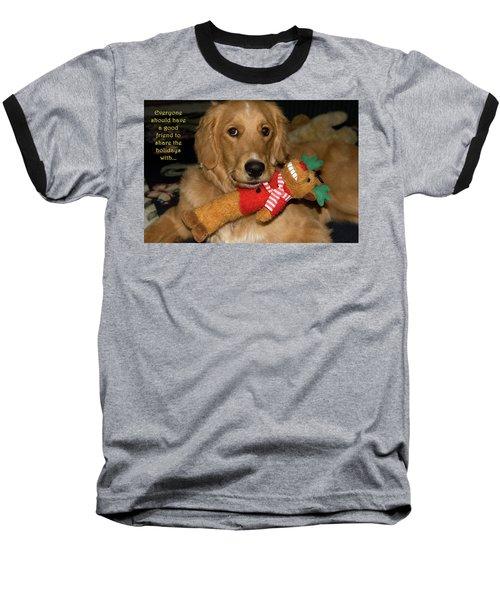 Wish For A Christmas Friend Baseball T-Shirt