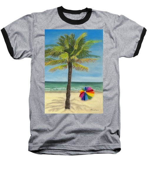 Baseball T-Shirt featuring the painting Wish I Was There by Arlene Crafton