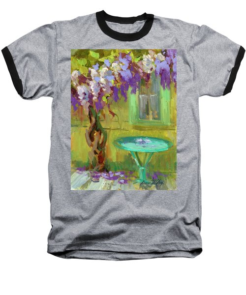 Wisteria At Hotel Baudy Baseball T-Shirt by Diane McClary