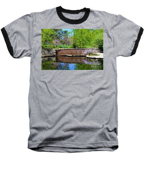 Wisteria In Bloom At Loose Park Bridge Baseball T-Shirt