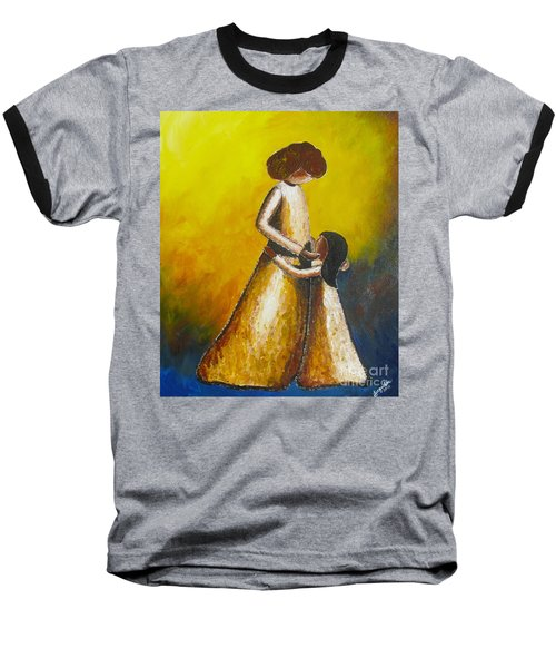 Baseball T-Shirt featuring the painting With Her by Jacqueline Athmann