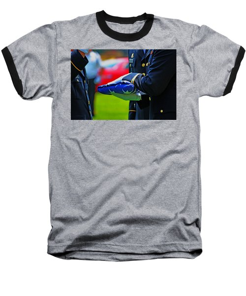 Baseball T-Shirt featuring the photograph With Honor by Rowana Ray