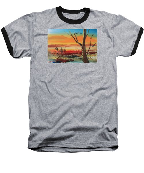 Withered Tree Baseball T-Shirt by Remegio Onia