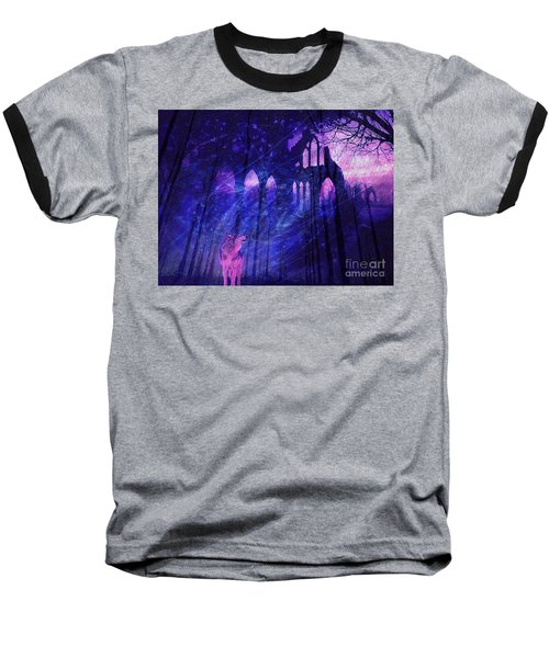Wolf And Magic Baseball T-Shirt