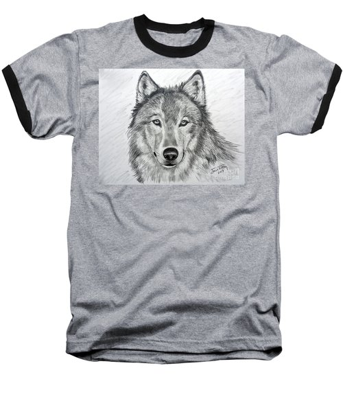 Wolf Baseball T-Shirt by Julie Brugh Riffey