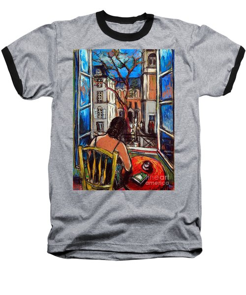 Woman At Window Baseball T-Shirt