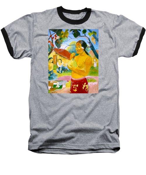 Woman Holding Fruit Baseball T-Shirt by Henryk Gorecki