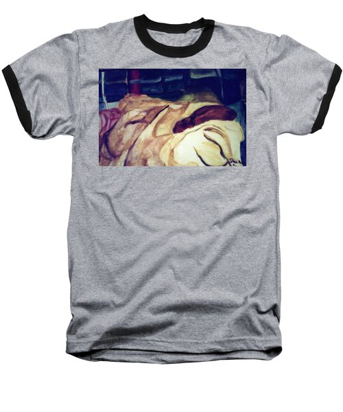 Woman Napping On A Couch  Baseball T-Shirt