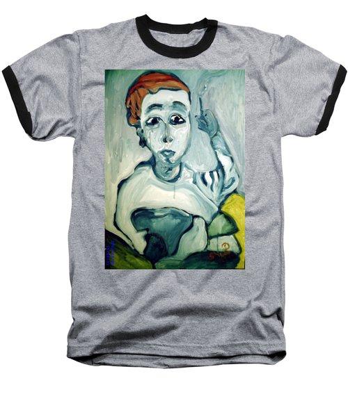 Woman Smoking Baseball T-Shirt