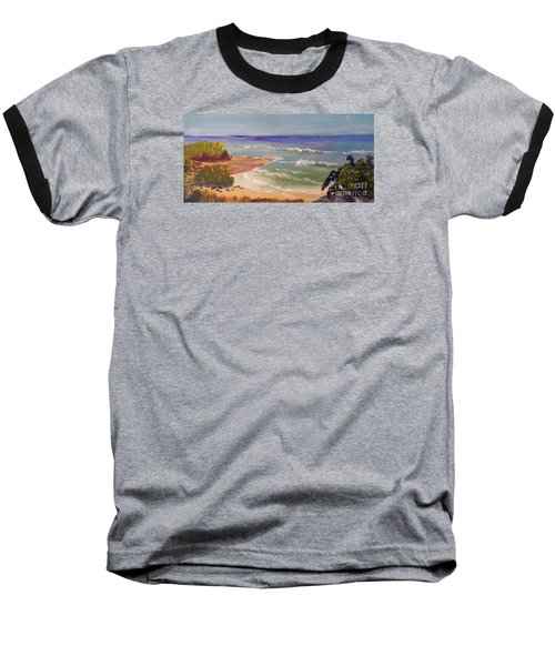 Baseball T-Shirt featuring the painting Wombarra Beach by Pamela  Meredith