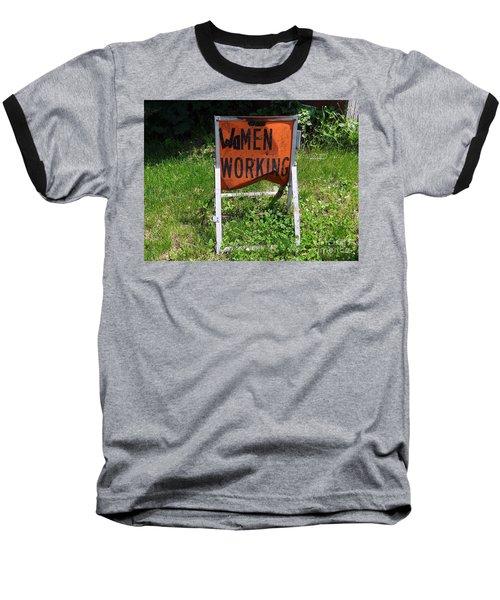 Baseball T-Shirt featuring the photograph Women Working by Ed Weidman