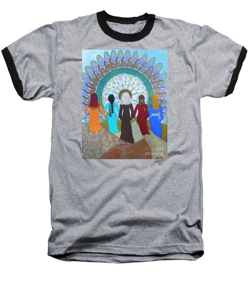 Women's Circle Mandala Baseball T-Shirt