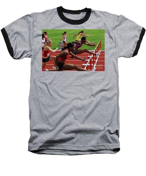 Womens Hurdles 3 Baseball T-Shirt