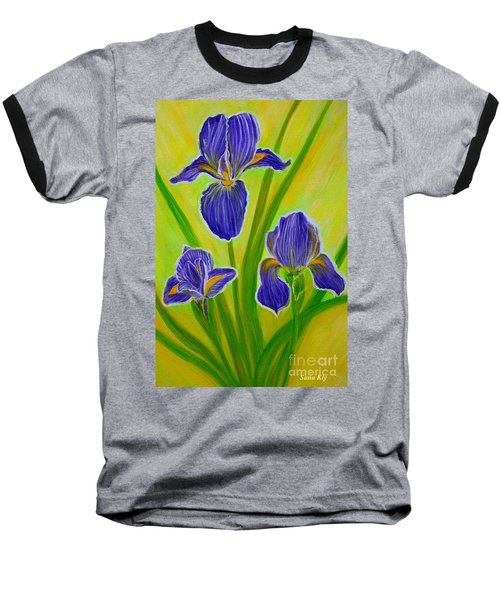 Wonderful Iris Flowers 3 Baseball T-Shirt