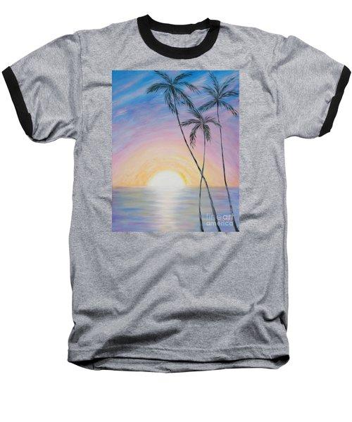 Wonderful Sunrise In Paradise Baseball T-Shirt