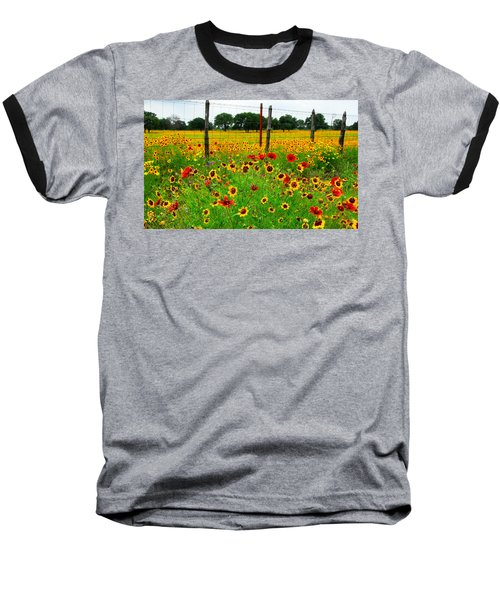 Wonderful Wildflowers Baseball T-Shirt by Lynn Bauer
