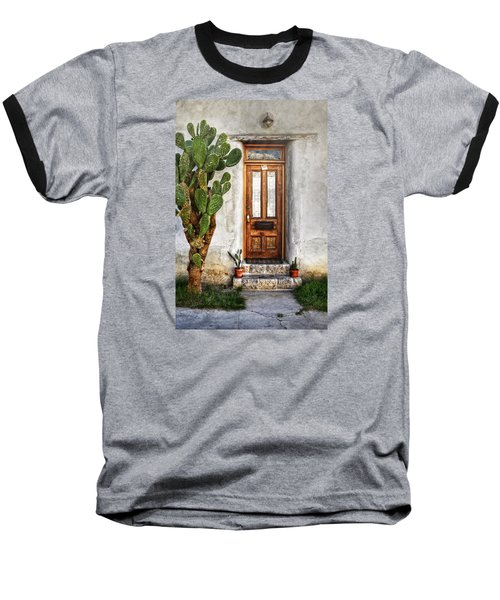 Baseball T-Shirt featuring the photograph Wood Door In Tuscon by Ken Smith