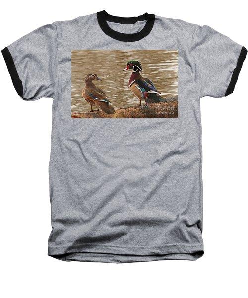 Wood Duck Photo Baseball T-Shirt