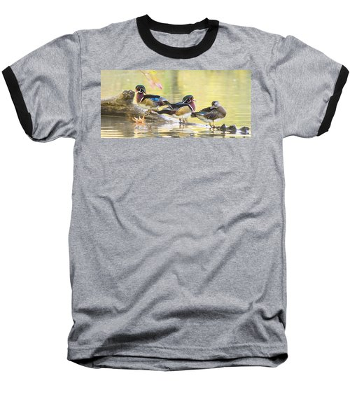 Wood-ducks Panorama Baseball T-Shirt