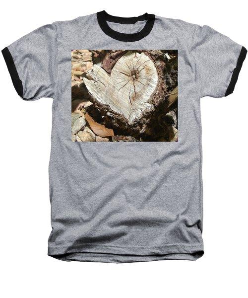 Wood Heart Baseball T-Shirt