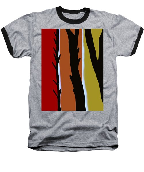 Baseball T-Shirt featuring the digital art Wood L by Christine Fournier