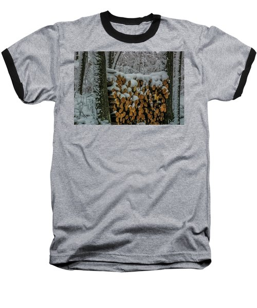Wood Pile Baseball T-Shirt