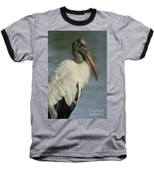 Wood Stork In Oil Baseball T-Shirt