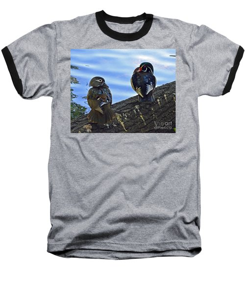 Baseball T-Shirt featuring the photograph Wood You Love Me Forever by Robert Meanor