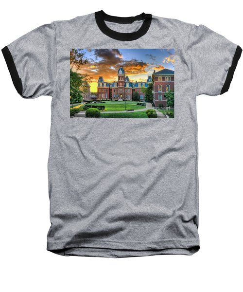 Woodburn Hall Evening Sunset Baseball T-Shirt by Dan Friend