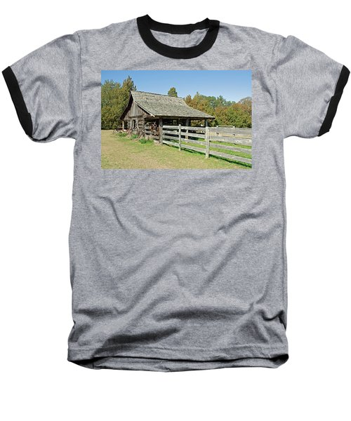 Baseball T-Shirt featuring the photograph Wooden Barn by Charles Beeler