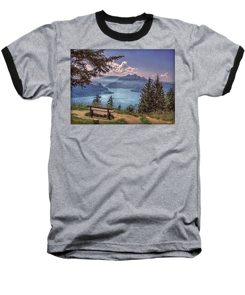 Baseball T-Shirt featuring the photograph Wooden Bench by Hanny Heim