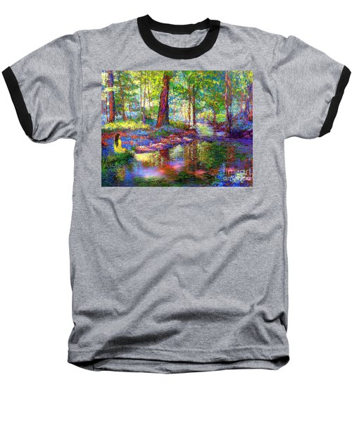 Baseball T-Shirt featuring the painting Woodland Rapture by Jane Small