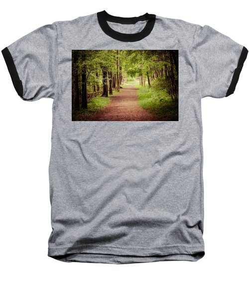 Woodland Trail Baseball T-Shirt by Sara Frank