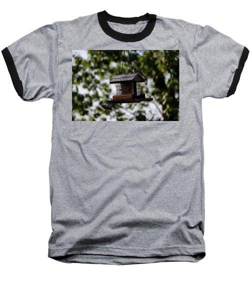 Woodpeckers At Dinner Baseball T-Shirt