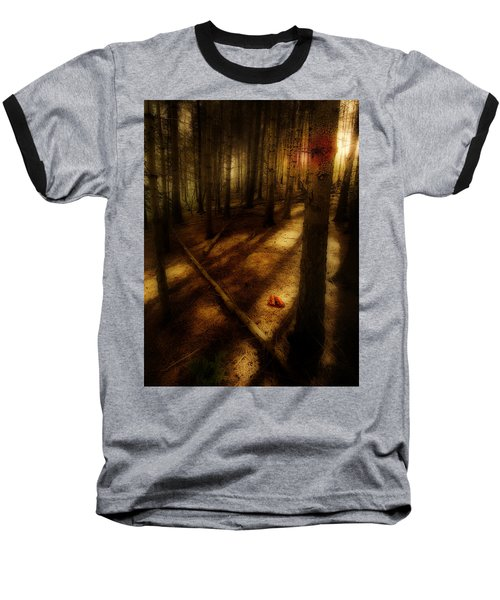 Baseball T-Shirt featuring the photograph Woods With Pine Cones by Meirion Matthias