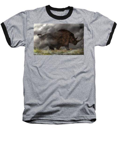 Woolly Rhinoceros Baseball T-Shirt