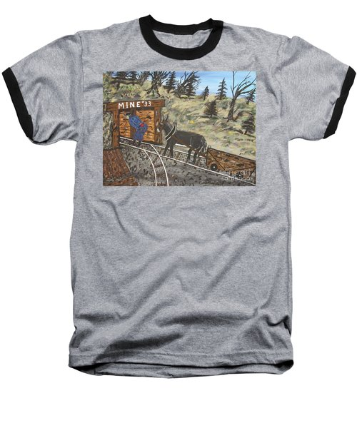 The Coal Mine Baseball T-Shirt by Jeffrey Koss
